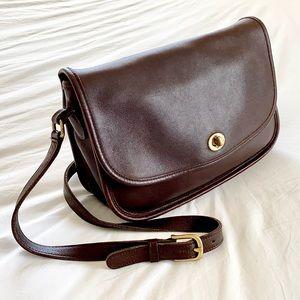 Vintage Brown Coach City Shoulder Bag Leather Boho